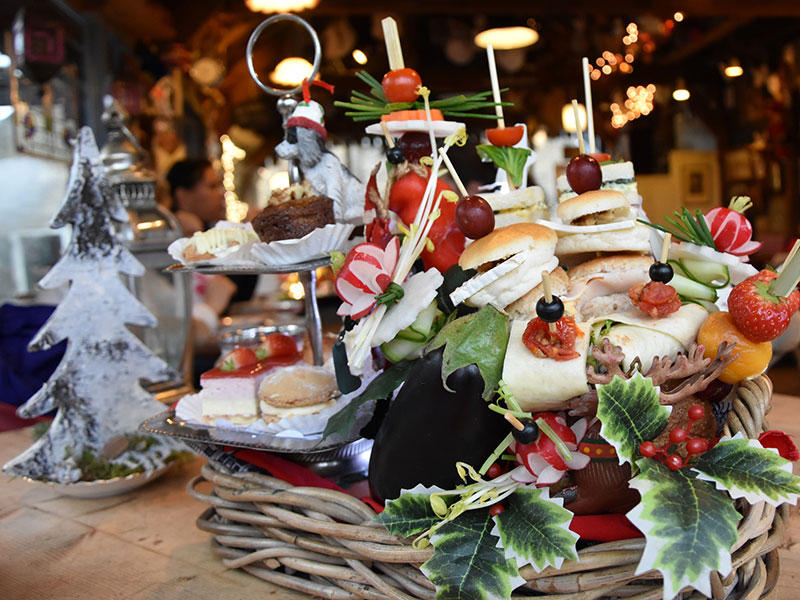 High Tea in kerstsfeer